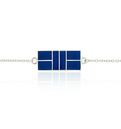 Enameled Curved Pickleball Court Bracelet - studio-margaret
