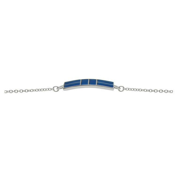 Enamel Pickleball Court Men's Bracelet