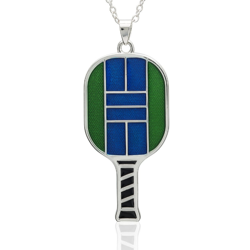 Enamel Pickle ball Paddle Pendant Medium