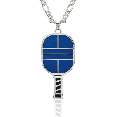 Enamel Pickleball Paddle Pendant Medium