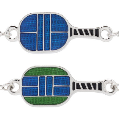 Enameled Pickleball Paddle Curved Bracelet - studio-margaret