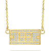 CZ Tennis Court Necklace Small