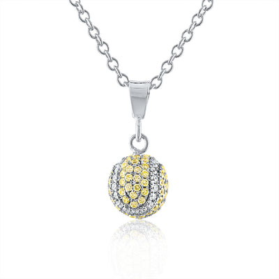 CZ Pave Tennis Ball Collection
