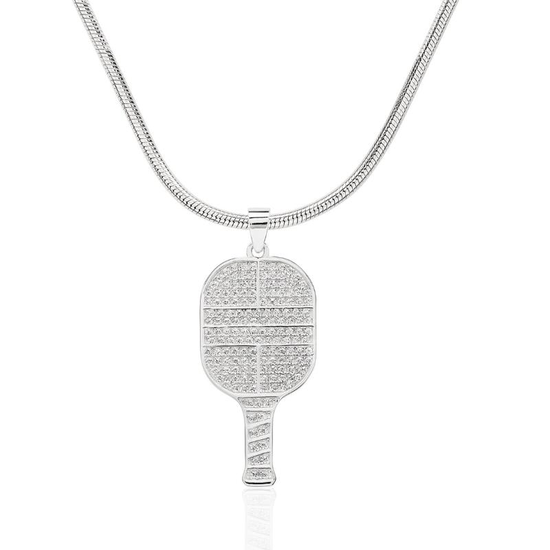 CZ Pickleball Paddle Pendant Medium