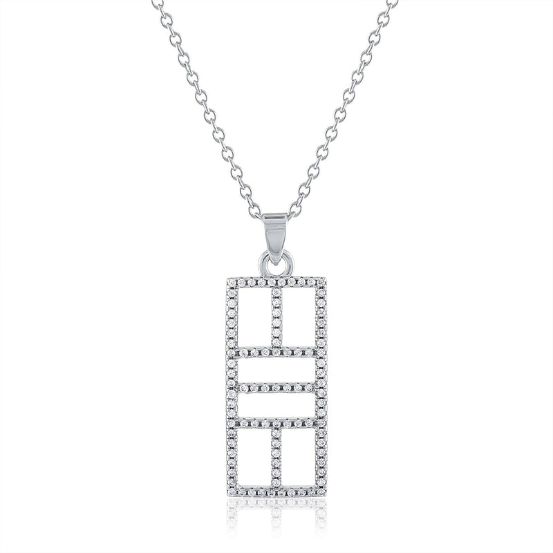 CZ Calling the Lines Pickle Court Pendant Medium