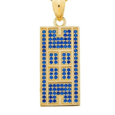 CZ Tennis Court Pendant Medium