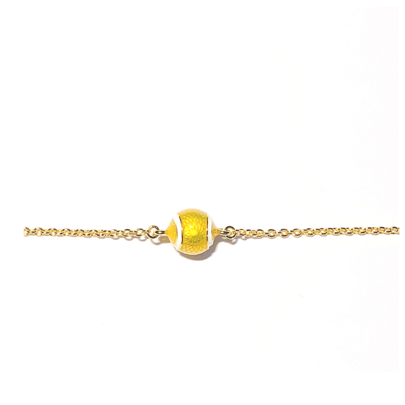 Enamel Single Tennis Ball Bracelet