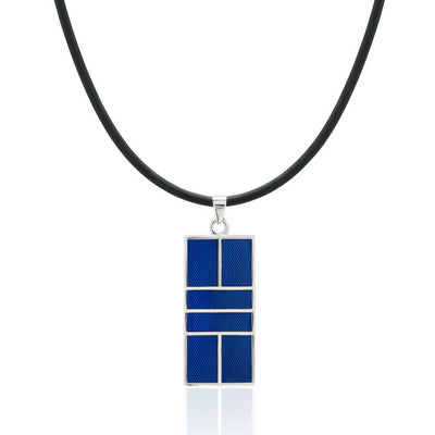 Enameled Pickleball Court Pendant - studio-margaret