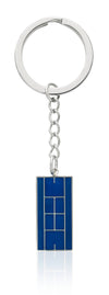 Blue Enameled Tennis Court Keychain - studio-margaret
