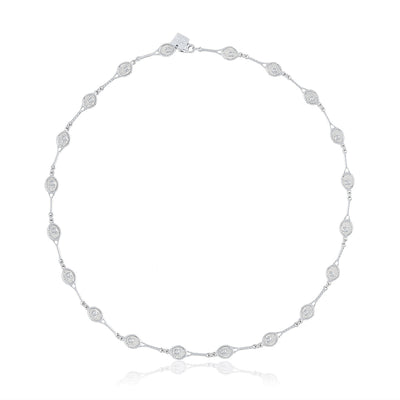 Petite Racquet with bezel CZ Necklace
