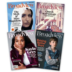Collage of Broadview covers
