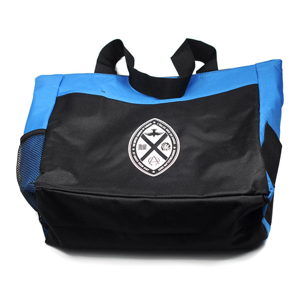 Crest Tote Bag: Blue/Black