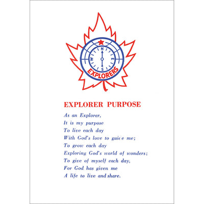 Explorers Purpose Card
