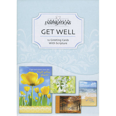 Boxed Greeting Cards with Scripture (Get Well): Thoughts of You Theme (Box of 12)