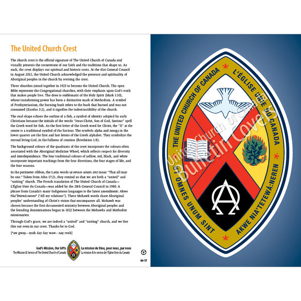 Bulletin: United Church Crest w/History on Back (Package of 50)