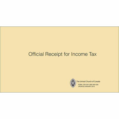 Official Income Tax Receipt Book