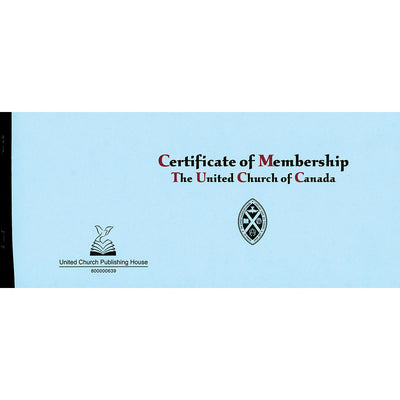 Certificate of Membership Book