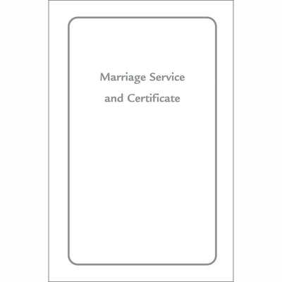 Marriage Service 92: From the 1969 United Church Service Book (Single)