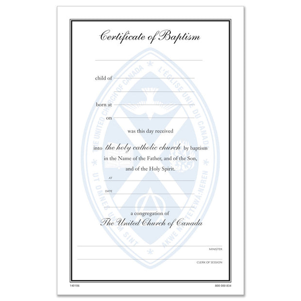 Certificate of Baptism #61
