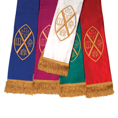 Stole with United Church Crest: Blue