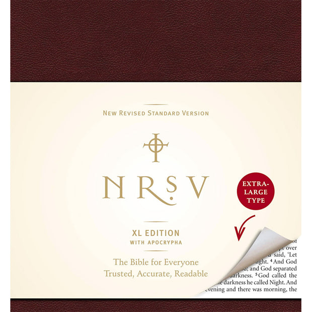 NRSV XL Large Print Bible: With The Apocrypha, Burgundy