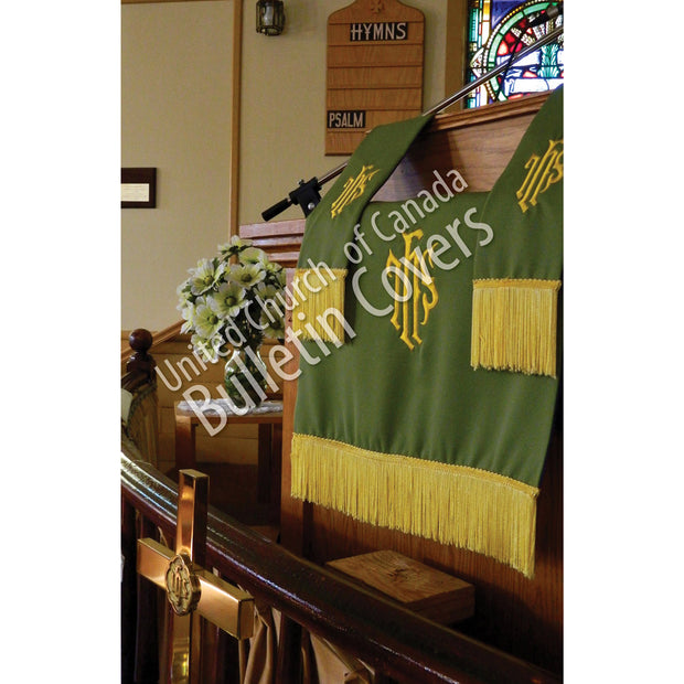 Bulletin: Green Pulpit Hangings (Package of 50)