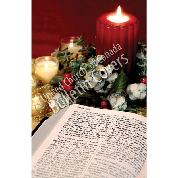 Bulletin: Bible and Candle (Package of 50)