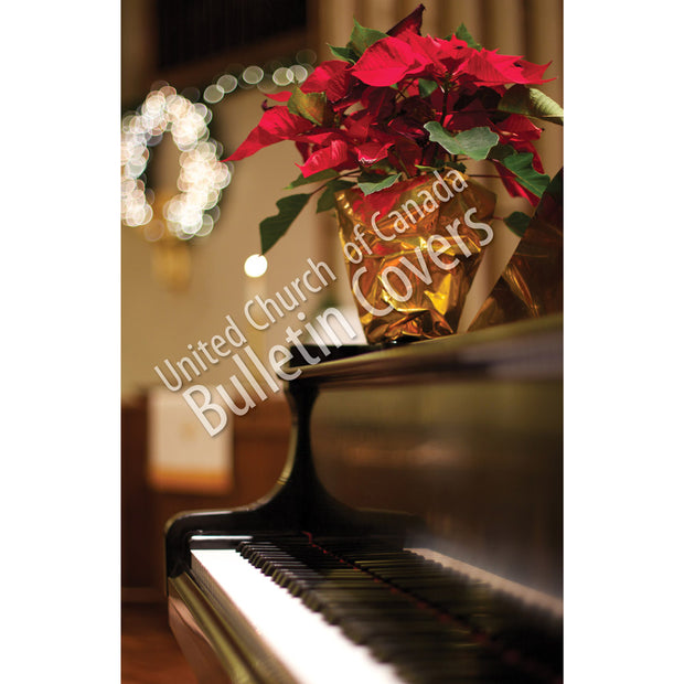Bulletin: Poinsettia on Piano (Package of 50)