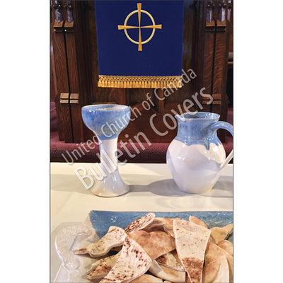 Bulletin: Communion Blue (Package of 50)