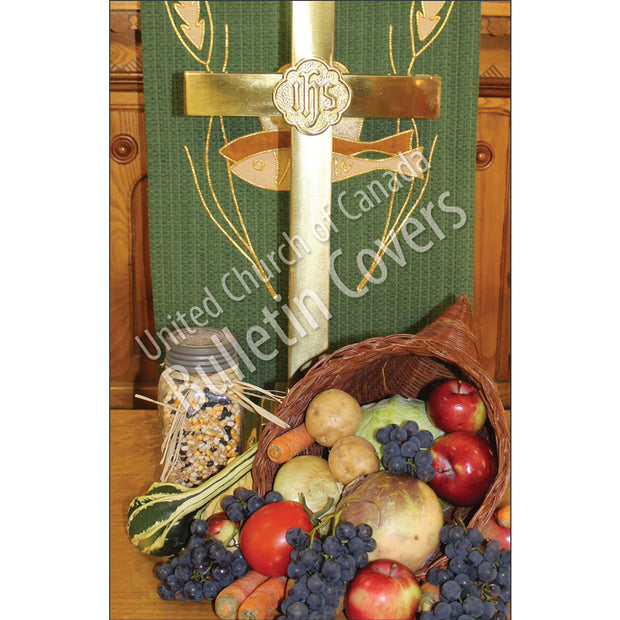 Bulletin: Cross and Cornucopia (Package of 50)