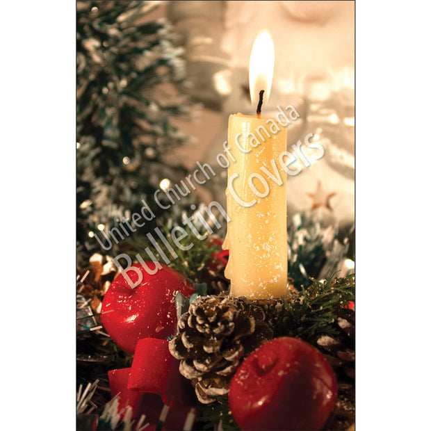 Bulletin: Candle and Pinecones (Package of 50)