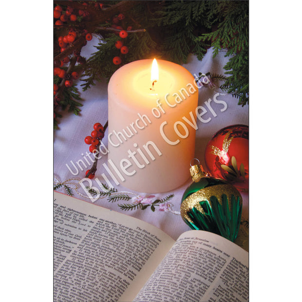 Bulletin: Candle and Ornaments (Package of 50)