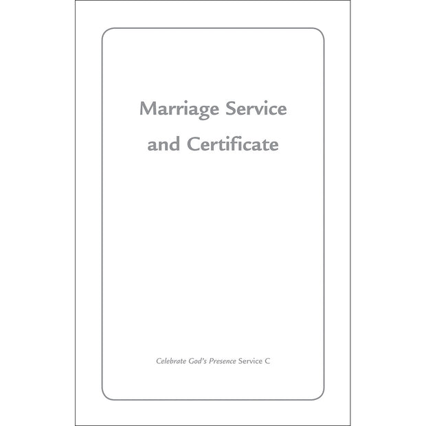 Contemporary Marriage Service and Certificate (Single Copy)