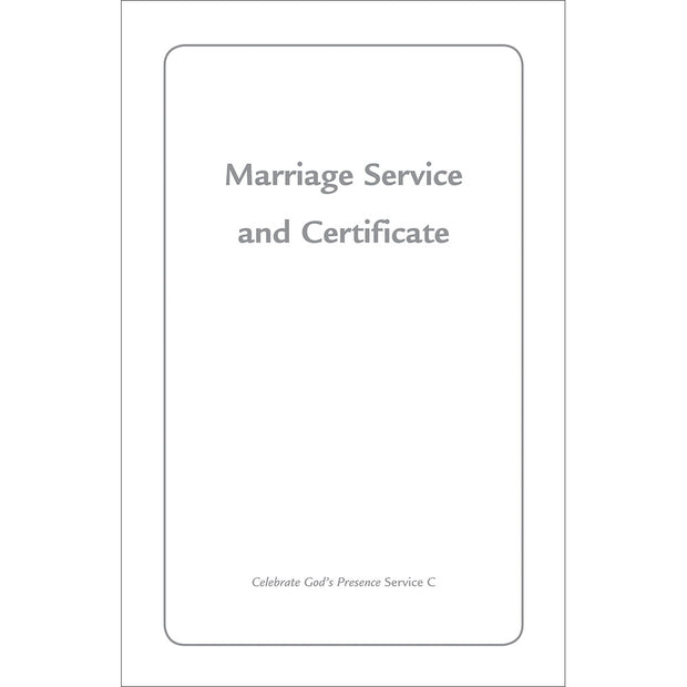 Contemporary Marriage Service and Certificate (Package of 12)