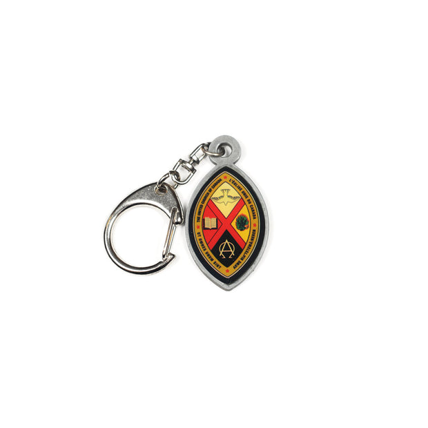 Crest Key Chain: Pewter