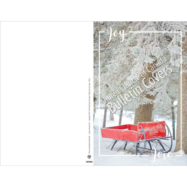 Special Occasion Bulletin: Joy: Red Sleigh (Package of 100)