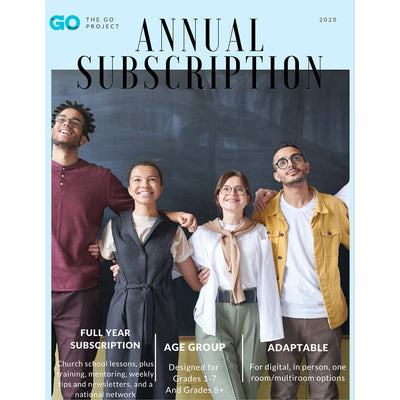 The GO Project Annual Subscription: Curriculum for Children and Youth Ministry