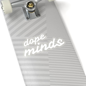 Dope Minds | White | Cutout Style Stickers