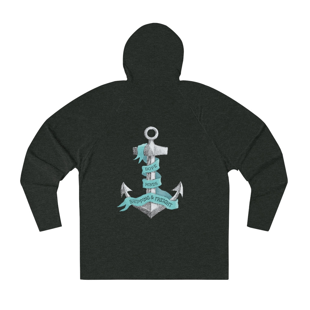 Dope Minds Shipping & Freight Raglan Hoodie