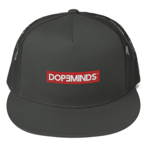 DopeMinds - Red Logo Trucker Hat