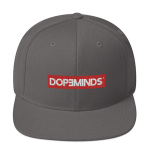 DopeMinds - Red Logo Snapback Hat