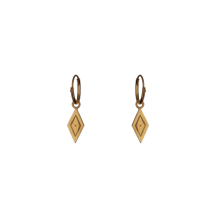 Wise Gold Hoop Earrings