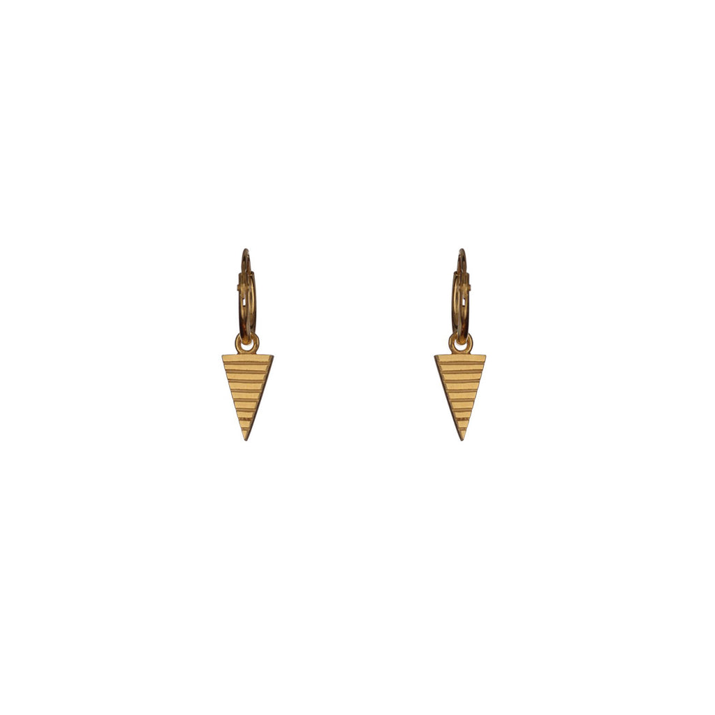 Teepee Gold Hoop Earrings