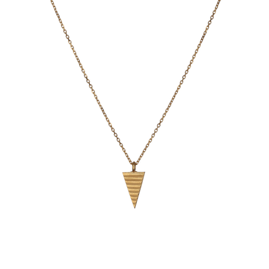 Teepee Triangle Pendant in gold