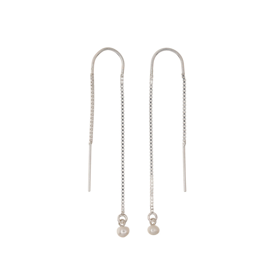 Threader Earrings Mini Pearls