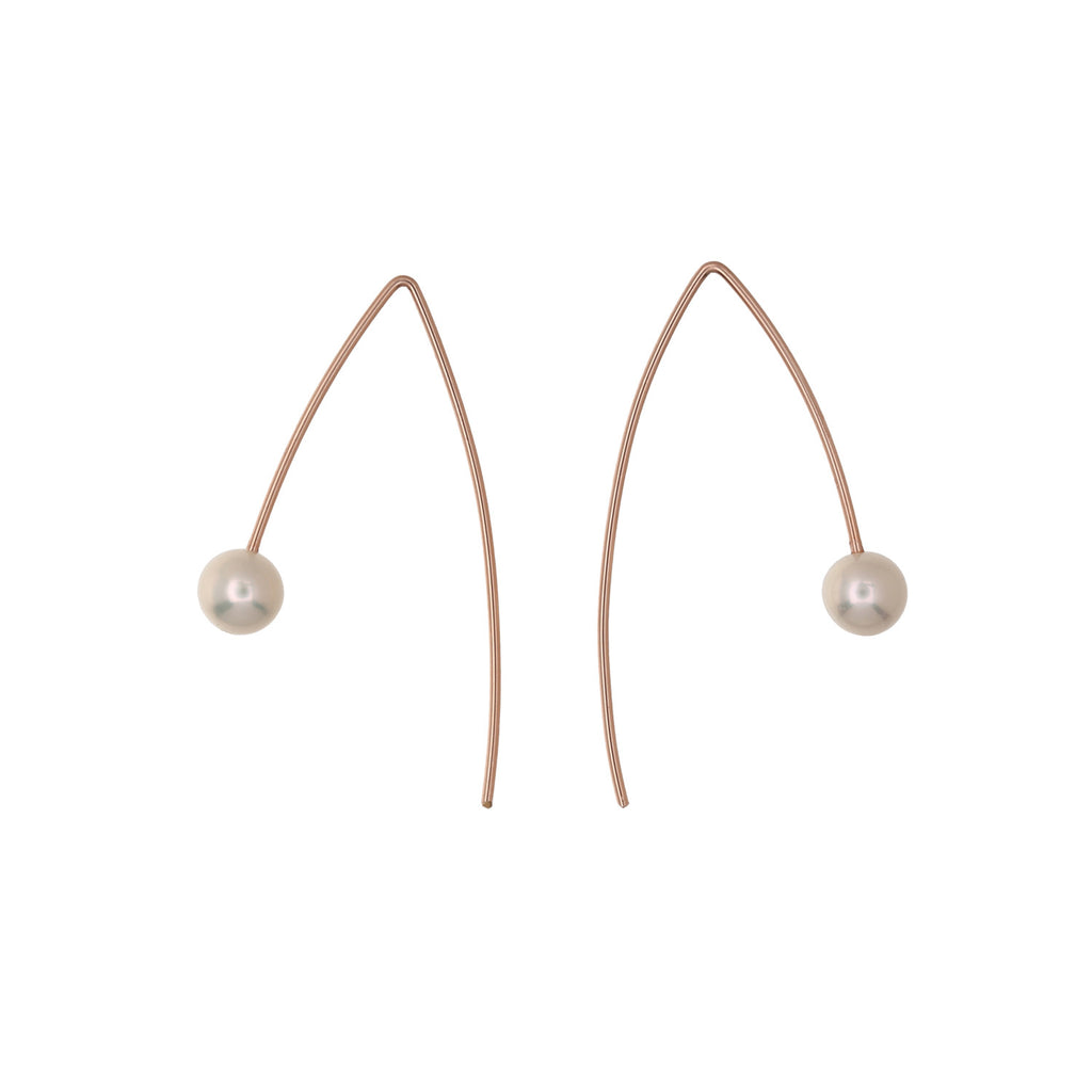 Stellar Wire Pearl Earrings