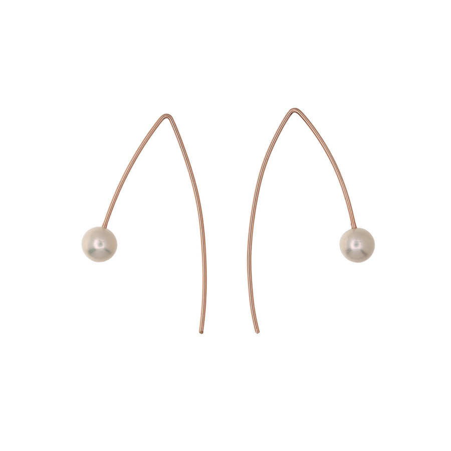 Wire Pearl Earrings