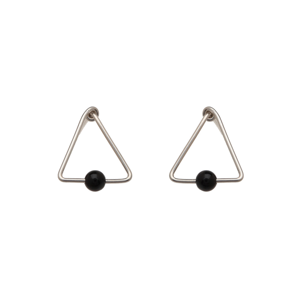 Mini Bead Triangle Studs