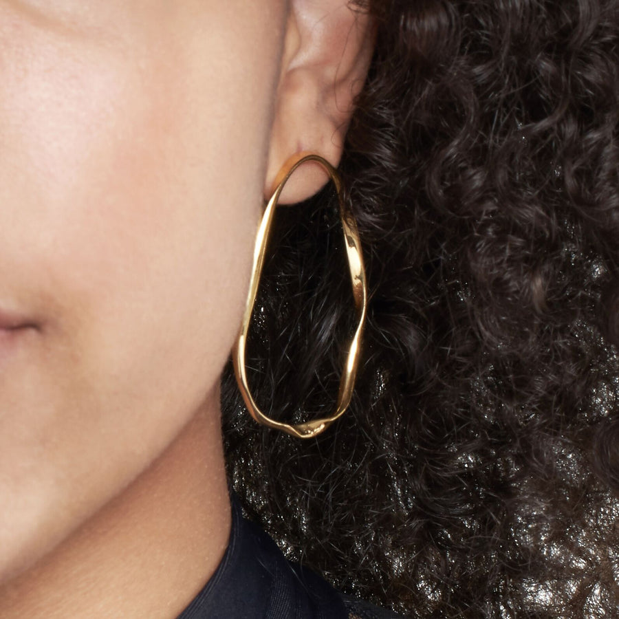 Nouveau large gold Hoops