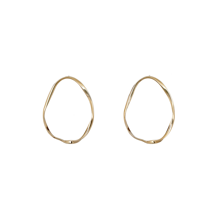 Gold Twist Hoops